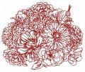 Summer bouquet 3 embroidery design