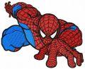Spiderman climbing 2 embroidery design