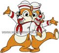 Chip & Dale happy together embroidery design