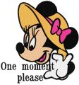 One moment please embroidery design