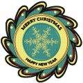 Merry Christmas badge embroidery design