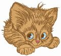 Adorable kitten 5 embroidery design