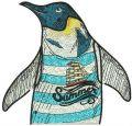 Summer penguin embroidery design