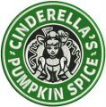 Cinderella's pumpkin spice embroidery design