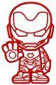 Stubborn Iron Man embroidery design