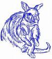Australian kangaroo embroidery design