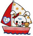 Bunny's boat trip 2 embroidery design