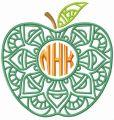 Apple NHK embroidery design