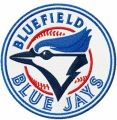 Bluefield Blue Jay Logo embroidery design