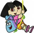 Dora the Explorer Hero embroidery design