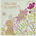 You make me happy embroidery design