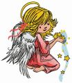Angel with star dust 2 embroidery design