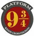 Platform 9¾ embroidery design