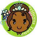 Princess Tiana Badge embroidery design