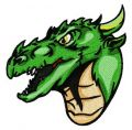 Valley dragon 3 embroidery design