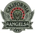 California Angels badge embroidery design