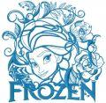 Elsa Frozen embroidery design