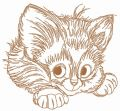 Adorable kitten 6 embroidery design