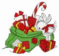Presents for bunnies 5 embroidery design