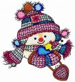 Snowman's date embroidery design
