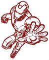 Iron Man STOP embroidery design