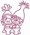 Princess Poppy and DJ Suki 2 embroidery design