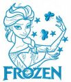 Elsa with butterflies 2 embroidery design
