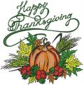 Happy thanksgiving harvest embroidery design