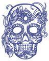 Skull of aristocrat embroidery design