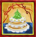 Christmas cake  embroidery design