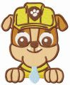 Paw Patrol Rubble embroidery design