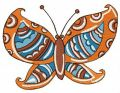 Striped butterfly embroidery design