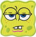 Spongebob Smile 4  embroidery design