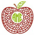 AME tasty apple embroidery design