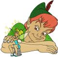 Peter Pan and Tinkerbell embroidery design