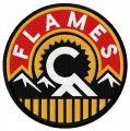 Calgary Flames alternative logo embroidery design