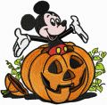 Mickey Mouse Halloween embroidery design