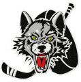 Chicago wolves logo embroidery design