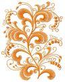 Swirl flower 3 embroidery design