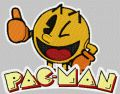 Pac-Man embroidery design