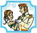 Anna and Hans embroidery design