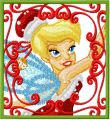 Tinkerbell Christmas embroidery design