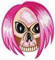 Emo's skull embroidery design