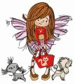 Shopping fairy embroidery design