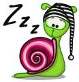 Snail in striped hat embroidery design