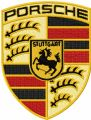 Porsche logo embroidery design