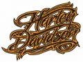 H-D wordmark logo embroidery design