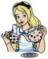 Tea time with Alice embroidery design