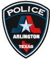 Texas Arlington police department badge embroidery design