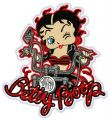 Betty Boop biker 2 embroidery design
